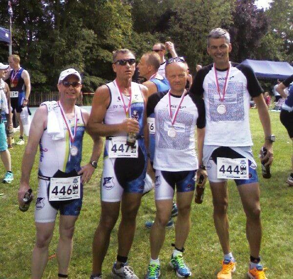 2.Platz für das Triathlon Team des SV Traisa in der 2.Seniorenliga