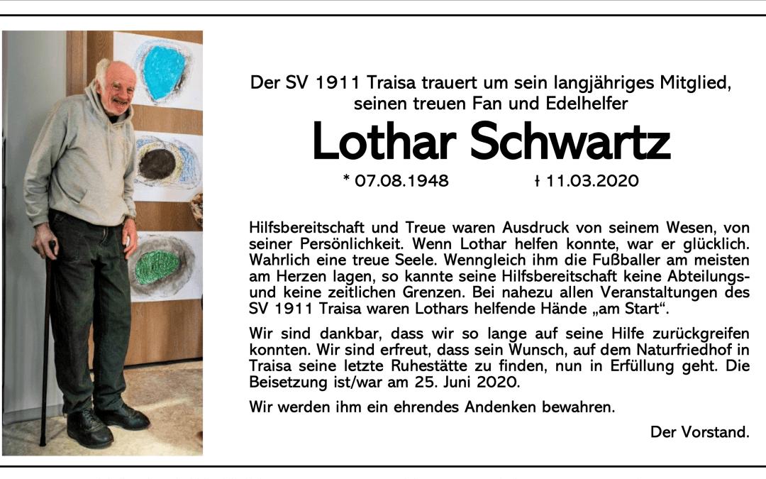 Lothar Schwarz gestorben