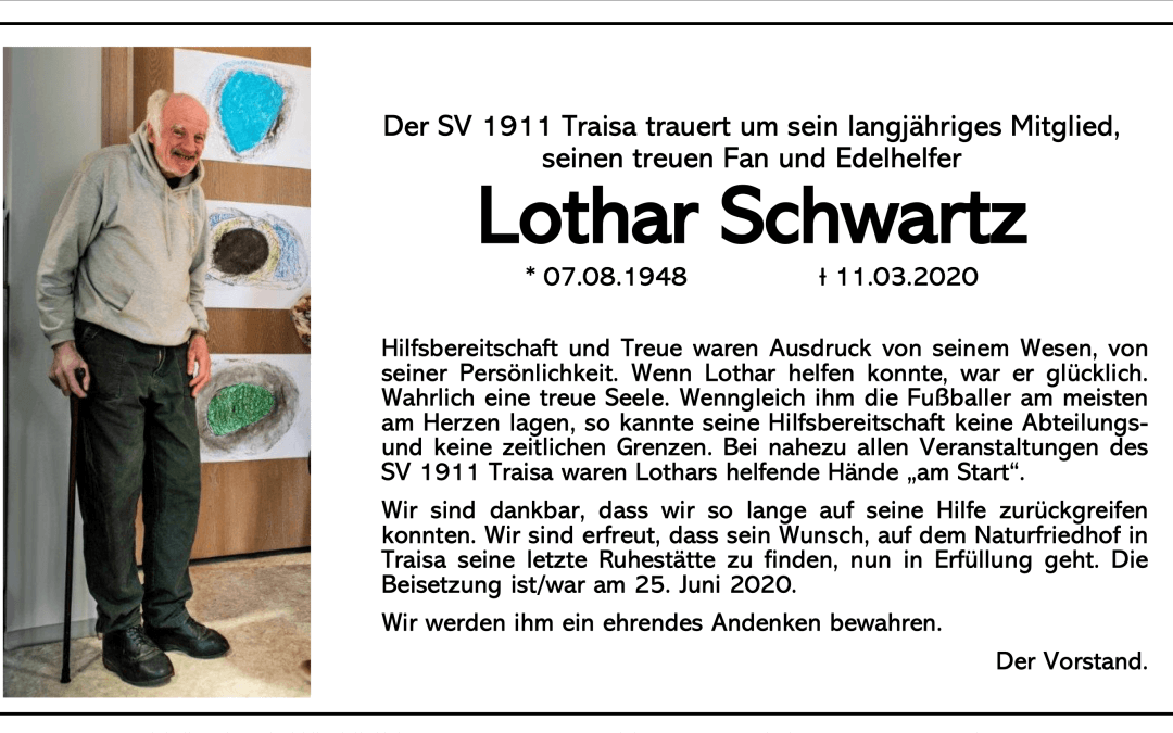 Lother Schwarz gestorben