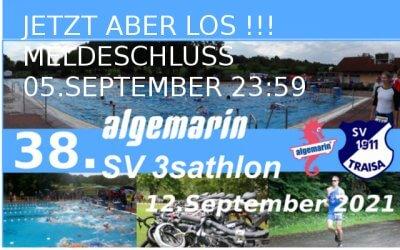 38. algemarin SV3sathlon – Die Anmeldung ist nur noch bis zum 5. September geöffnet